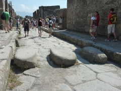 Zebrastreifen in Pompeji