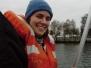 Person über Bord Übungen & Freifallboot!