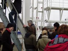 Aufstieg zum Freifallboot ca. 7m hoch!