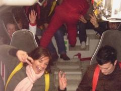 In dem steilen Freifallboot!