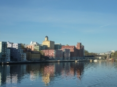 Wir verlassen Stockholm...